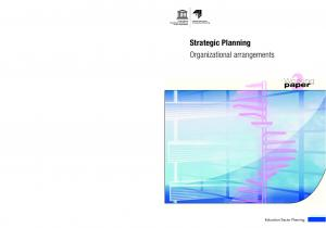 Strategic Planning Organizational arrangements