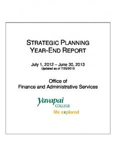 STRATEGIC PLANNING YEAR-END REPORT