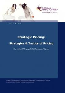 Strategic Pricing: Strategies & Tactics of Pricing