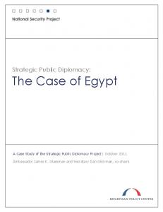 Strategic Public Diplomacy: The Case of Egypt
