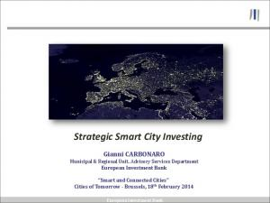 Strategic Smart City Investing