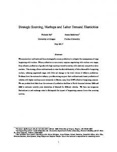 Strategic Sourcing, Markups and Labor Demand Elasticities