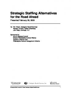 Strategic Staffing Alternatives for the Road Ahead