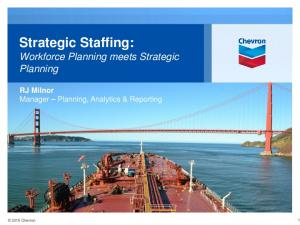 Strategic Staffing: Workforce Planning meets Strategic Planning