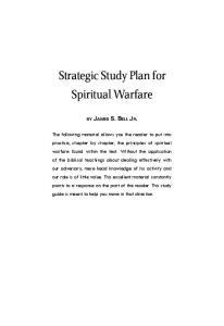Strategic Study Plan for Spiritual Warfare