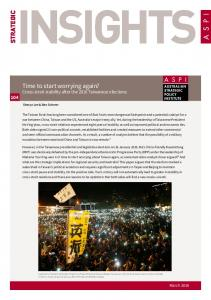 STRATEGIC. Time to start worrying again? Cross-strait stability after the 2016 Taiwanese elections. March 2016