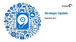 Strategic Update. September 2014