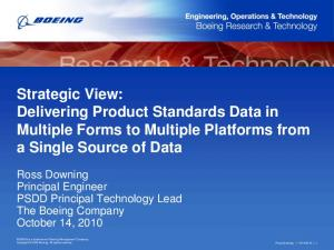 Strategic View: Delivering Product Standards Data in Multiple Forms to Multiple Platforms from a Single Source of Data