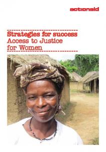 Strategies for success Access to Justice for Women