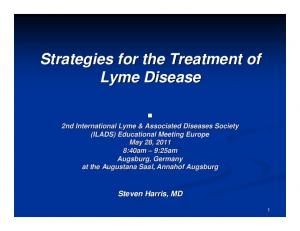 Strategies for the Treatment of Lyme Disease