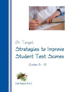 Strategies to Improve Student Test Scores