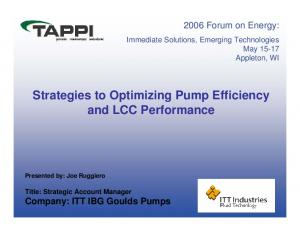 Strategies to Optimizing Pump Efficiency and LCC Performance