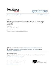 Strategies under pressure: USA-China copyright dispute