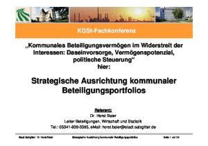 Strategische Ausrichtung kommunaler Beteiligungsportfolios