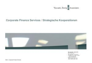 Strategische Kooperationen. Seite 1 Corporate Finance Services
