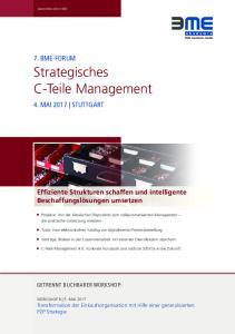 Strategisches C-Teile Management
