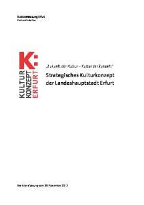Strategisches Kulturkonzept der Landeshauptstadt Erfurt