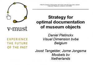 Strategy for optimal documentation of museum objects