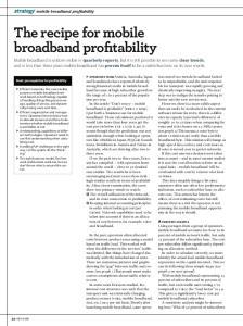 strategy mobile broadband profitability