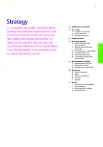 Strategy Strategy 22 Chief Executive s introduction 23 Our strategy 24 Our business model 24 Our strategic priorities egy at Str