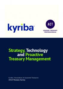 Strategy, Technology and Proactive Treasury Management