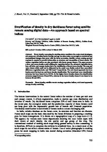 Stratification of density in dry deciduous forest using satellite remote sensing digital data An approach based on spectral indices