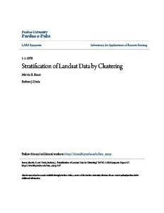 Stratification of Landsat Data by Clustering