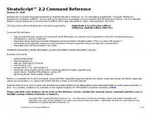 StratoScript 2.2 Command Reference January 11, 2010