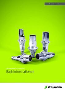 Straumann Variobase Basisinformationen. Technische Informationen