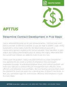 Streamline Contract Development in Five Steps