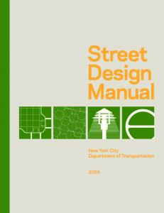 Street Design Manual. New York City Department of Transportation