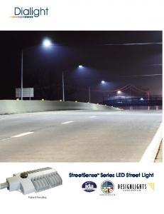 StreetSense TM Series LED Street Light