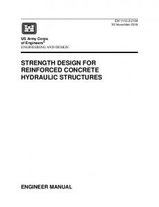 STRENGTH DESIGN FOR REINFORCED CONCRETE HYDRAULIC STRUCTURES