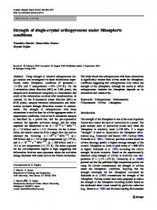 Strength of single-crystal orthopyroxene under lithospheric conditions