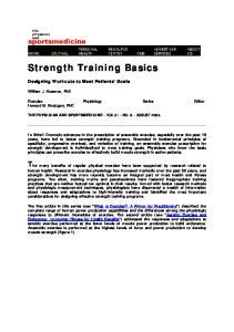 Strength Training Basics
