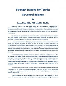Strength Training For Tennis: Structural Balance