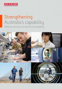 Strengthening Australia s capability. Defence, security and economic prosperity