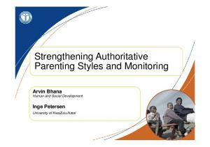 Strengthening Authoritative Parenting Styles and Monitoring