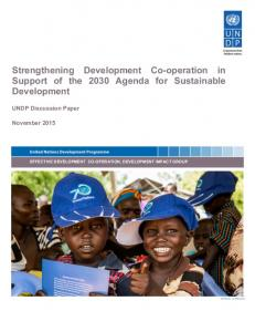 Strengthening Development Co- operation in Support of the 2030 Agenda for Sustainable Development