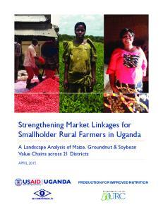 Strengthening Market Linkages for Smallholder Rural Farmers in Uganda