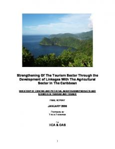 Strengthening Of The Tourism Sector Through the Development of Linkages With The Agricultural Sector In The Caribbean