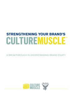 STRENGTHENING YOUR BRAND S. A Breakthrough in Understanding Brand Equity