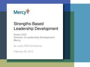 Strengths-Based Leadership Development