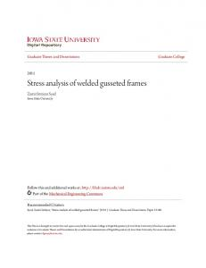 Stress analysis of welded gusseted frames