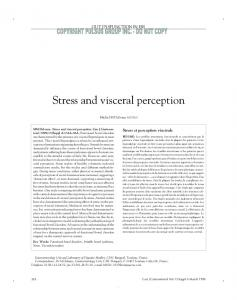 Stress and visceral perception