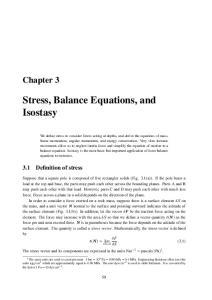 Stress, Balance Equations, and Isostasy