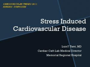 Stress Induced Cardiovascular Disease
