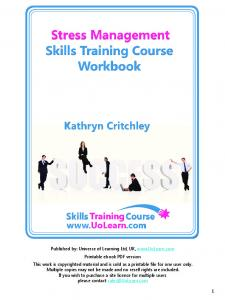 Stress Management Skills Training Course Workbook