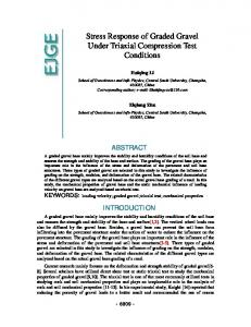 Stress Response of Graded Gravel Under Triaxial Compression Test Conditions