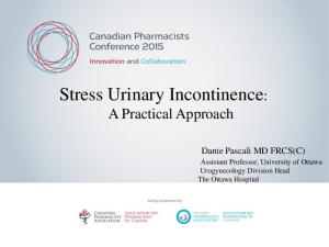 Stress Urinary Incontinence: A Practical Approach